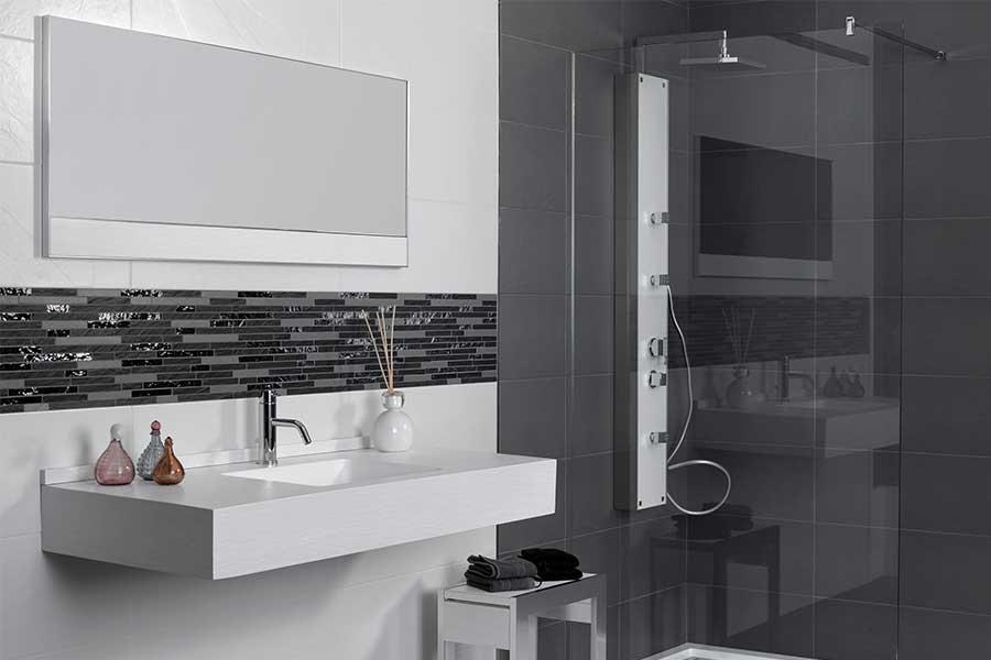 disneip | badezimmer mosaik silber >> mit spannenden ideen für, Deko ideen